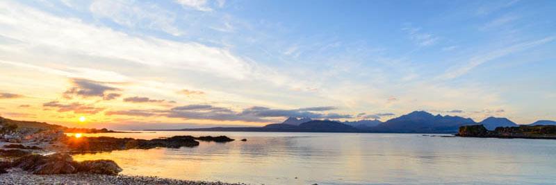 Isle of Skye, sunset at Tokavaig 2851PAN