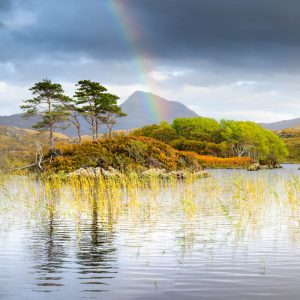 The Assynt, Canisp and rainbow 2862SQ