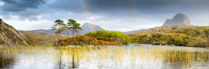 The Assynt, Suilven and Canisp from Loch Druim 2862PAN