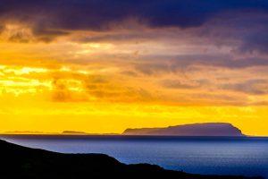 Isle of Skye, sunset over Rum 2906