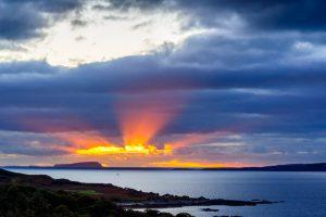 Isle of Skye, sunset over Rum 2908