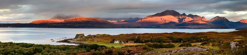 Isle of Skye, sunrise at Tokavaig 2995 panoramic