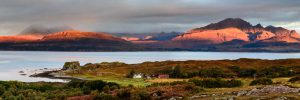 Isle of Skye, sunrise at Tokavaig 2995PAN