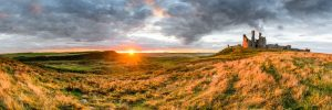 Dunstanburgh Castle, sunset 3088