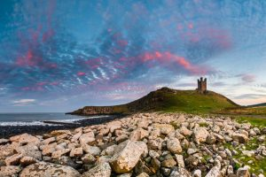 Dunstanburgh Castle, sunset 3090