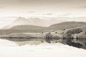 Isle of Skye, view of The Cuillins from Loch Ghabhsgabhaig 3145
