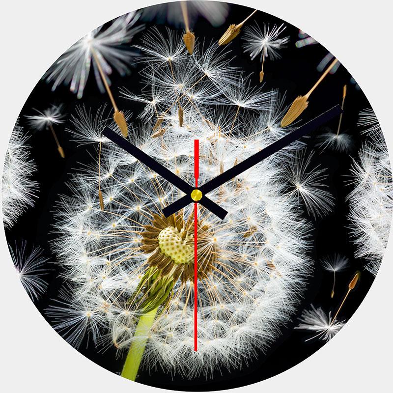 Dandelion Glass Wall Clock