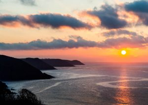 Pembrokeshire coastline sunrise 4266
