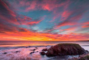 Pembrokeshire, Freshwater West Beach, sunset 4307
