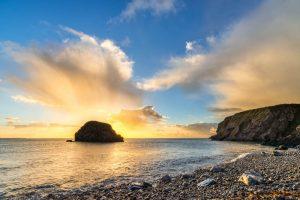Pembrokeshire, Stackpole, sunrise 4312