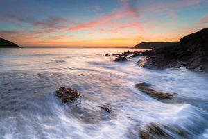 Pembrokeshire, Manorbier Beach sunset 4333
