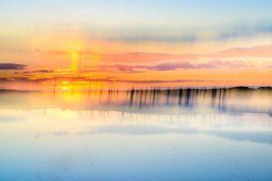 Sunset at Porlock Marsh 5086 Greetings Card