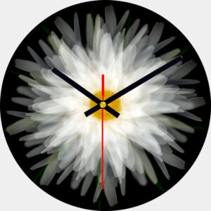 Daisy Glass Wall Clock