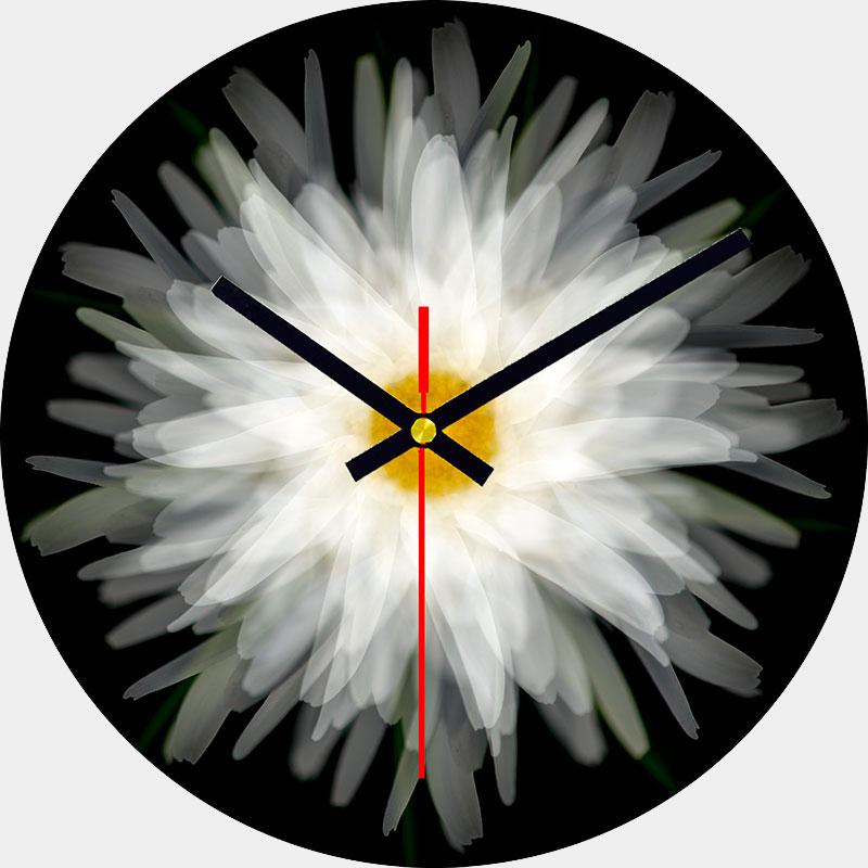 Daisy Glass Wall Clock