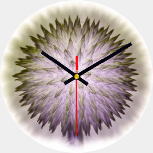 Echinops Glass Wall Clock