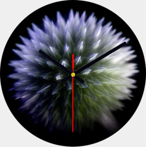 Echinops Glass Wall Clock